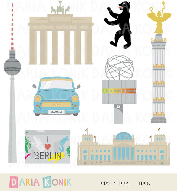 Berlin Clip Art Set.