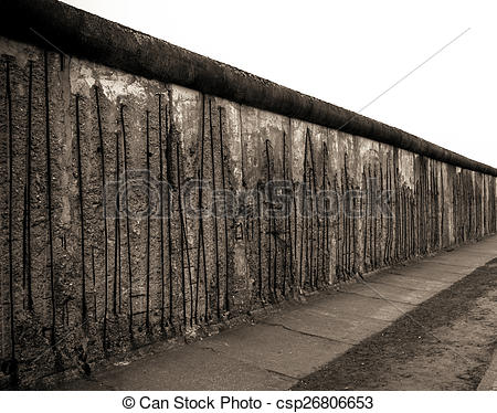 Stock Images of Remains of the Berlin Wall. The Berlin Wall.