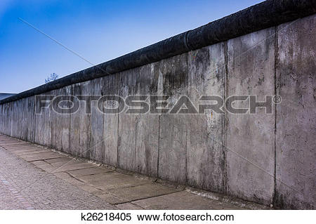 Stock Image of Remains of the Berlin Wall. The Berlin Wall.