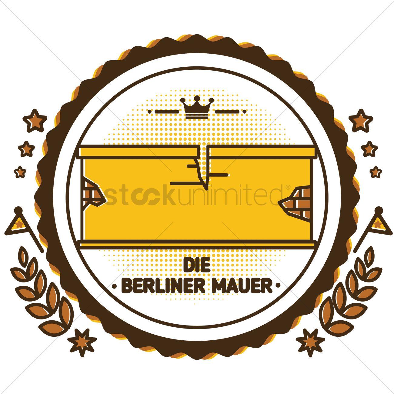Die berliner mauer Vector Image.