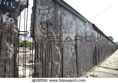Stock Photograph of Germany, Berlin, Zimmer Strasse, Checkpoint.