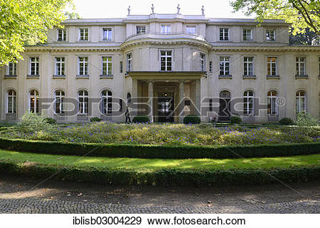 """Stock Photograph of """"Villa, House of the Wannsee Conference, Am."""