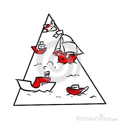 Bermuda Triangle Stock Illustrations.