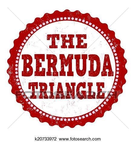 The Bermuda Triangle stamp Clipart.