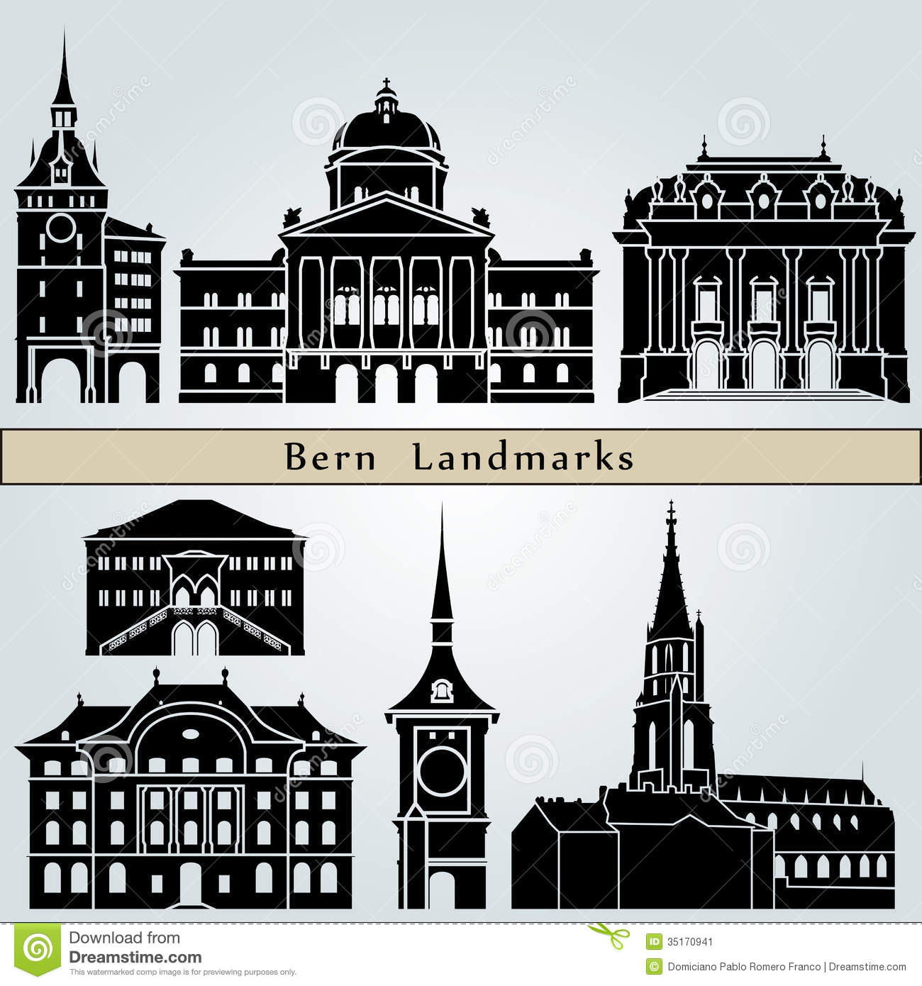 Bern Landmarks And Monuments Stock Image.