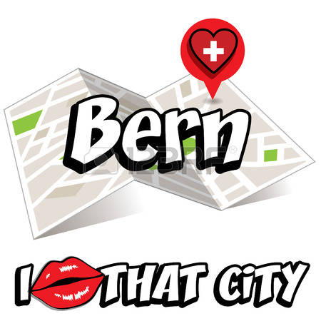 Map Of Bern Stock Vector Illustration And Royalty Free Map Of Bern.