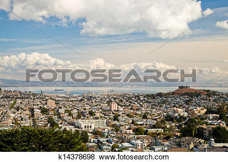 Pictures of San Francisco Central Waterfront and Bernal Heights.