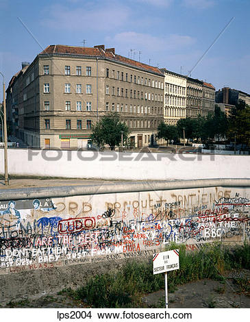 Stock Photo of 23 1986 Germany Berlin Wedding French Sector Wall.
