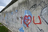 "Stock Photography of ""Remains of the Berlin Wall at Strelitzer."