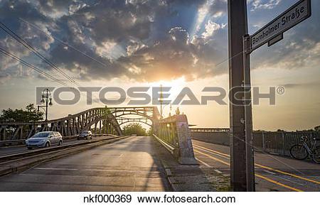 Stock Photograph of Germany, Berlin, Prenzlauer Berg, Road bridge.