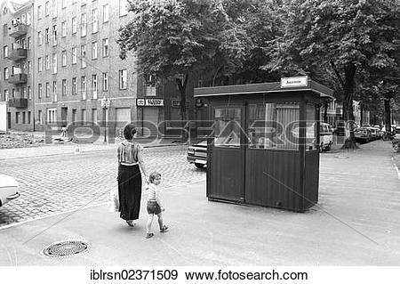 "Stock Photograph of ""Remains of the Berlin Wall with former border."