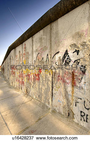 Picture of Germany, Berlin, East Side Gallery. The Berlin Wall.