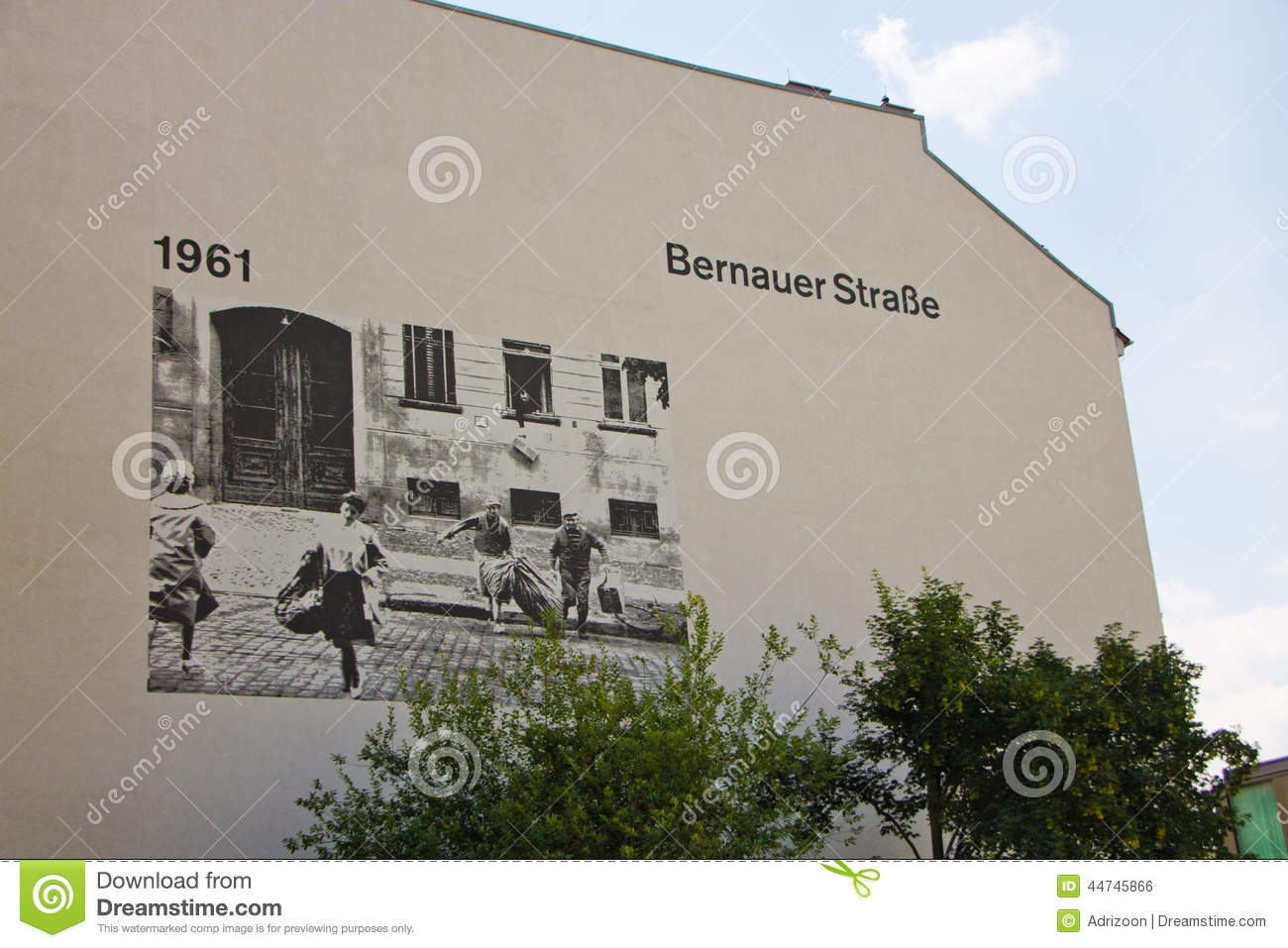 The Berlin Wall Memorial. Bernauer Strasse. Editorial Photo.