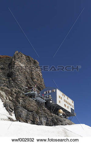 Stock Photo of Switzerland, Bernese Oberland, Aletsch Glacier.