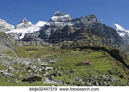 "Stock Photograph of ""Bluemlisalp massif, Bernese Oberland, Canton."