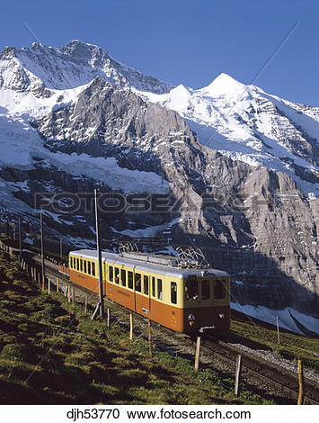 Stock Photography of Switzerland Bernese Oberland Jungfrau Cog.