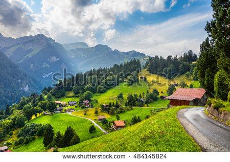 The Bernese Oberland Stock Photos, Royalty.