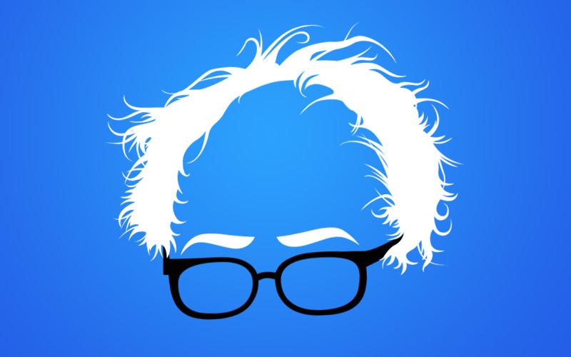 Bernie Sanders Hair Graphic by Dirt2.com.