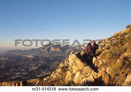 Pictures of Puig Campana mountain from the Bernia Mountain range.