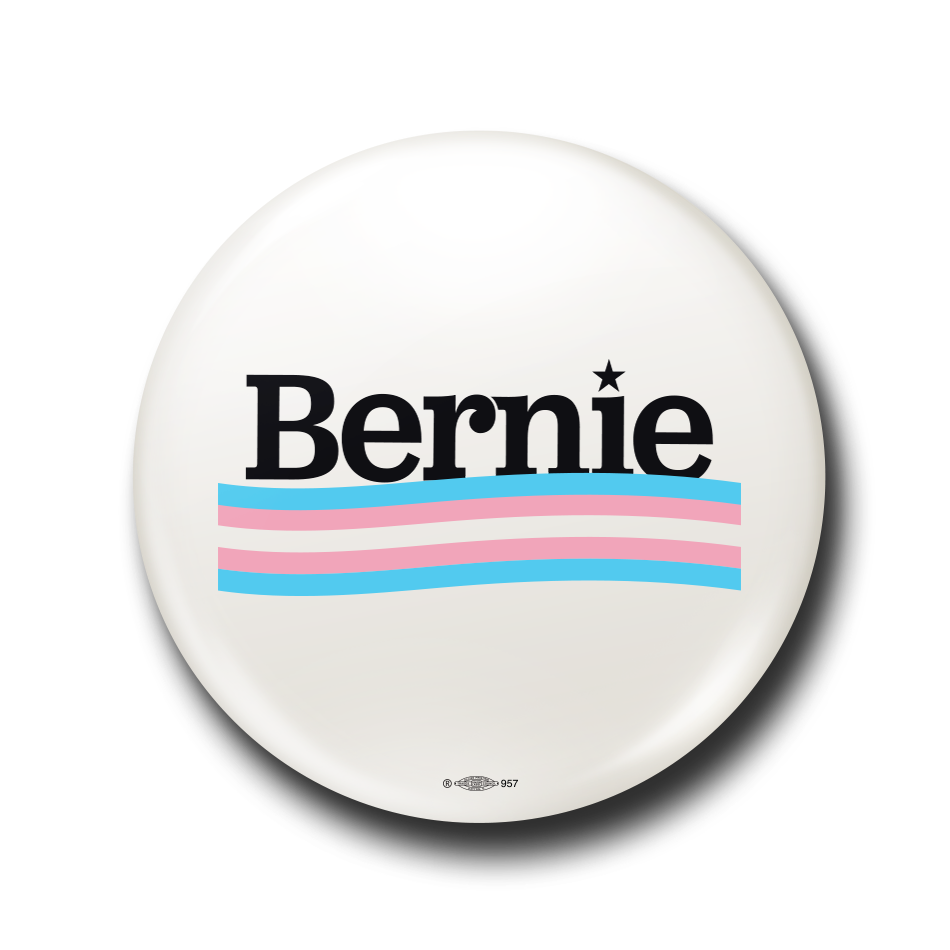 Bernie Trans Pride Button.