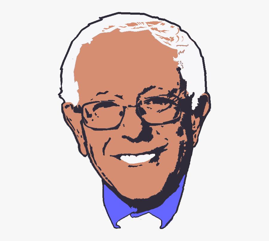 Cartoon Bernie Sanders Face , Free Transparent Clipart.