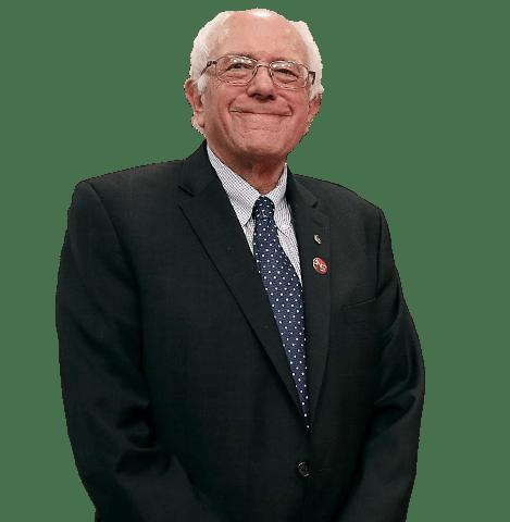Bernie Sanders Standing transparent PNG.