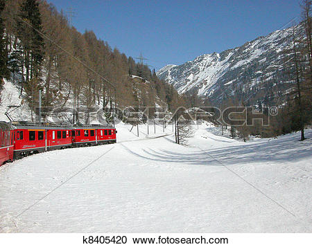Stock Photography of Bernina, Switzerland k8405420.