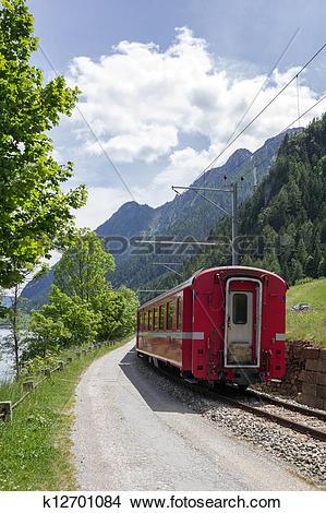 Stock Photo of Swiss mountain train Bernina Express k12701084.