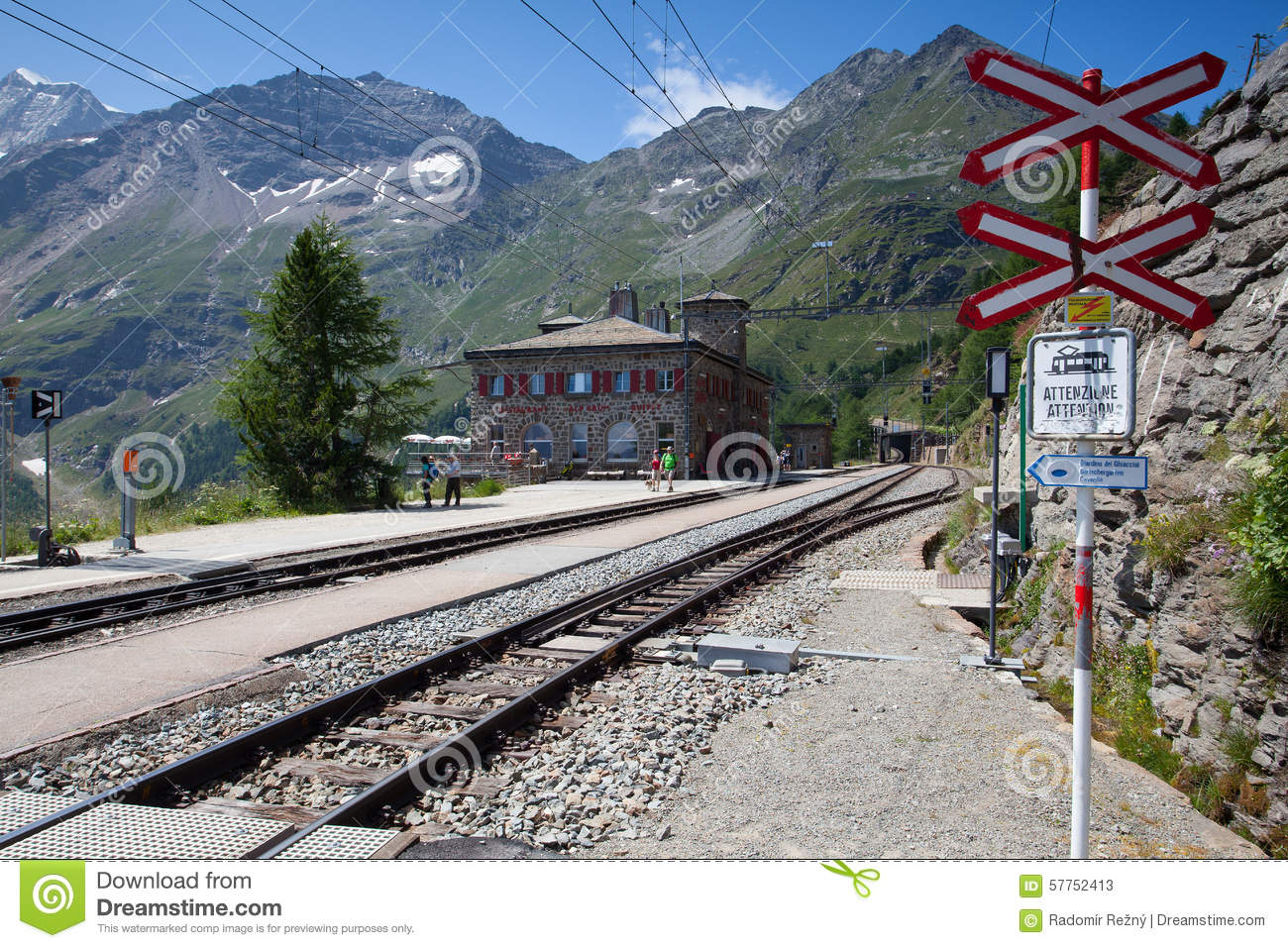 Alp Grum Railway Station Is Situated On The Bernina Railway.