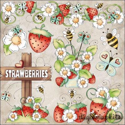 Bugs & Berries 1 Clip Art Set : Digi Scrap Kits.