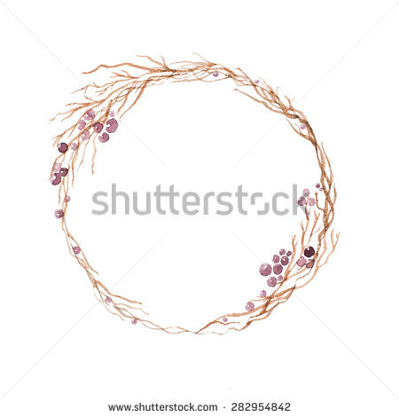 Twig Wreath Stock Images, Royalty.