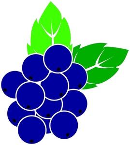 Cartoon blueberries.
