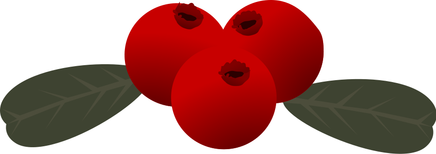 Red berry clipart.