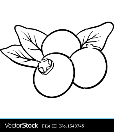 berry clipart black and white #2