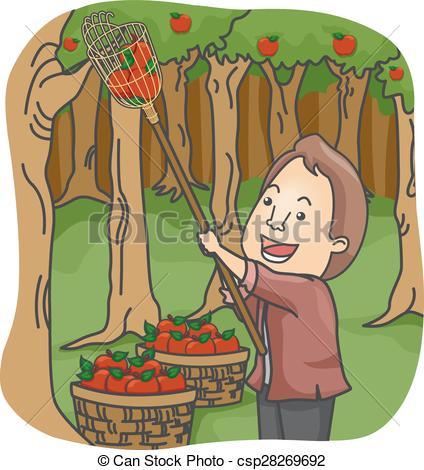 Fruit picker Clip Art Vector Graphics. 598 Fruit picker EPS.