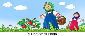 Strawberry picking Clip Art and Stock Illustrations. 54 Strawberry.