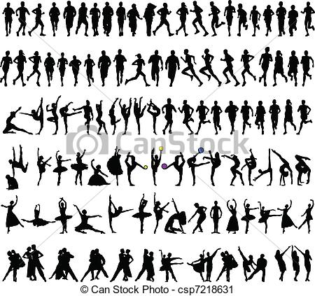 Vector Clip Art of sport collection.