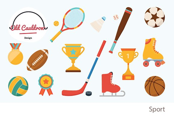 Sport clipart, vector graphics CL007 ~ Illustrations on Creative.