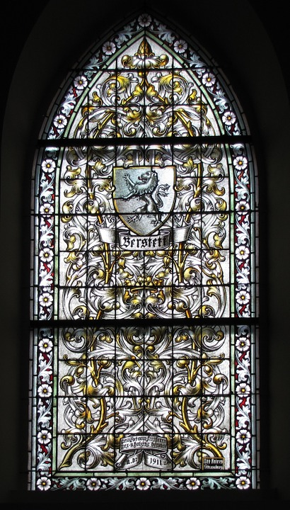 Free photo Window Stained Glass Protestant Church Berstett.