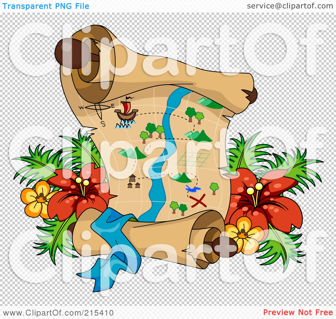 Kids Treasure Map Background Royalty Free Rf Clipart Illustration.
