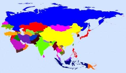 Peta Dunia Berwarna Clip Art.