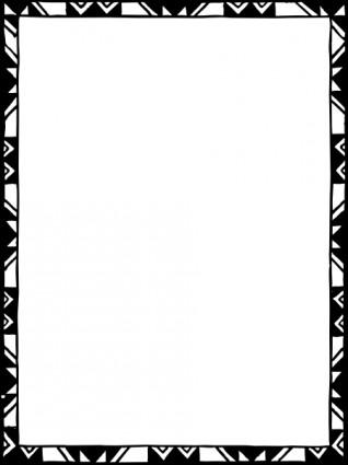 Bingkai Mono Berwarna Clip Art.