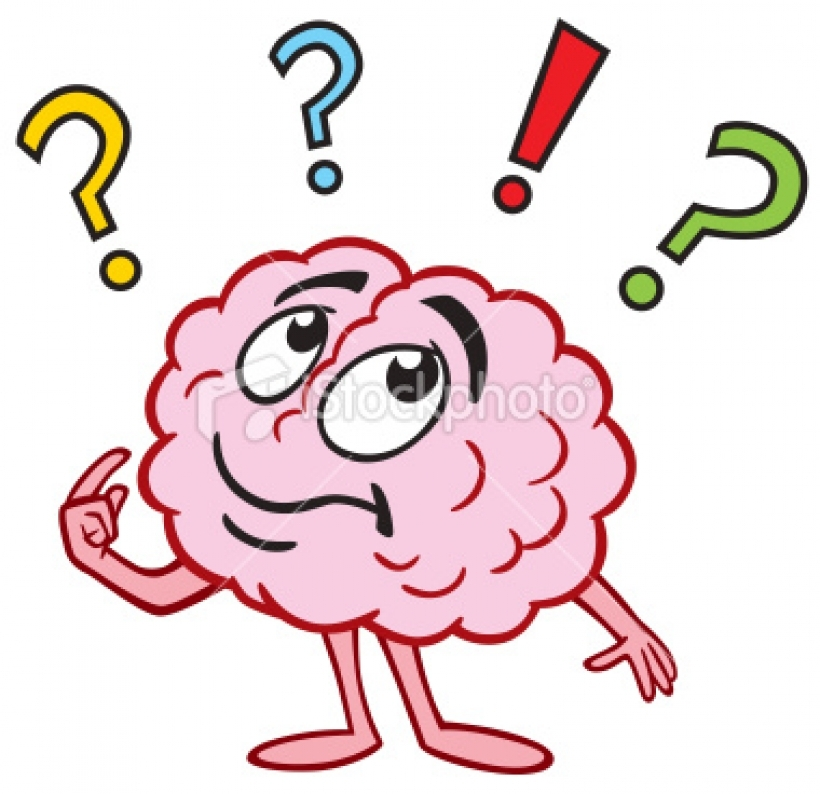 Clipart thinking brain.