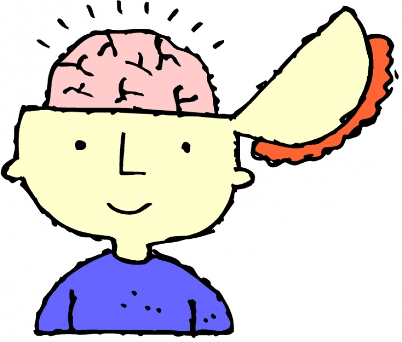 Free clipart brain thinking.