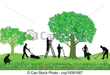 Clip Art Vektor von Betriebe, Gartenarbeit, Beschneidung.