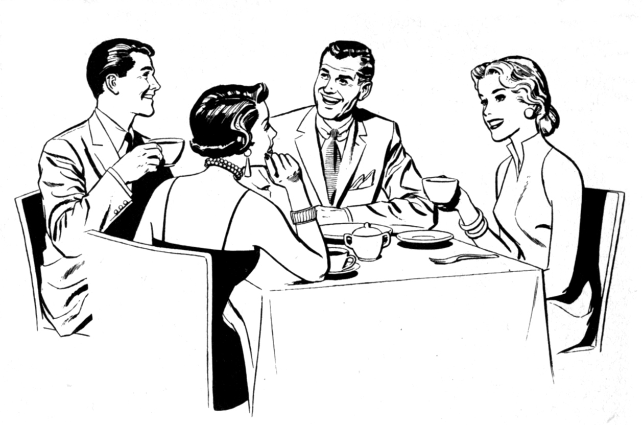 Clip Art Dinner Party Clipart.