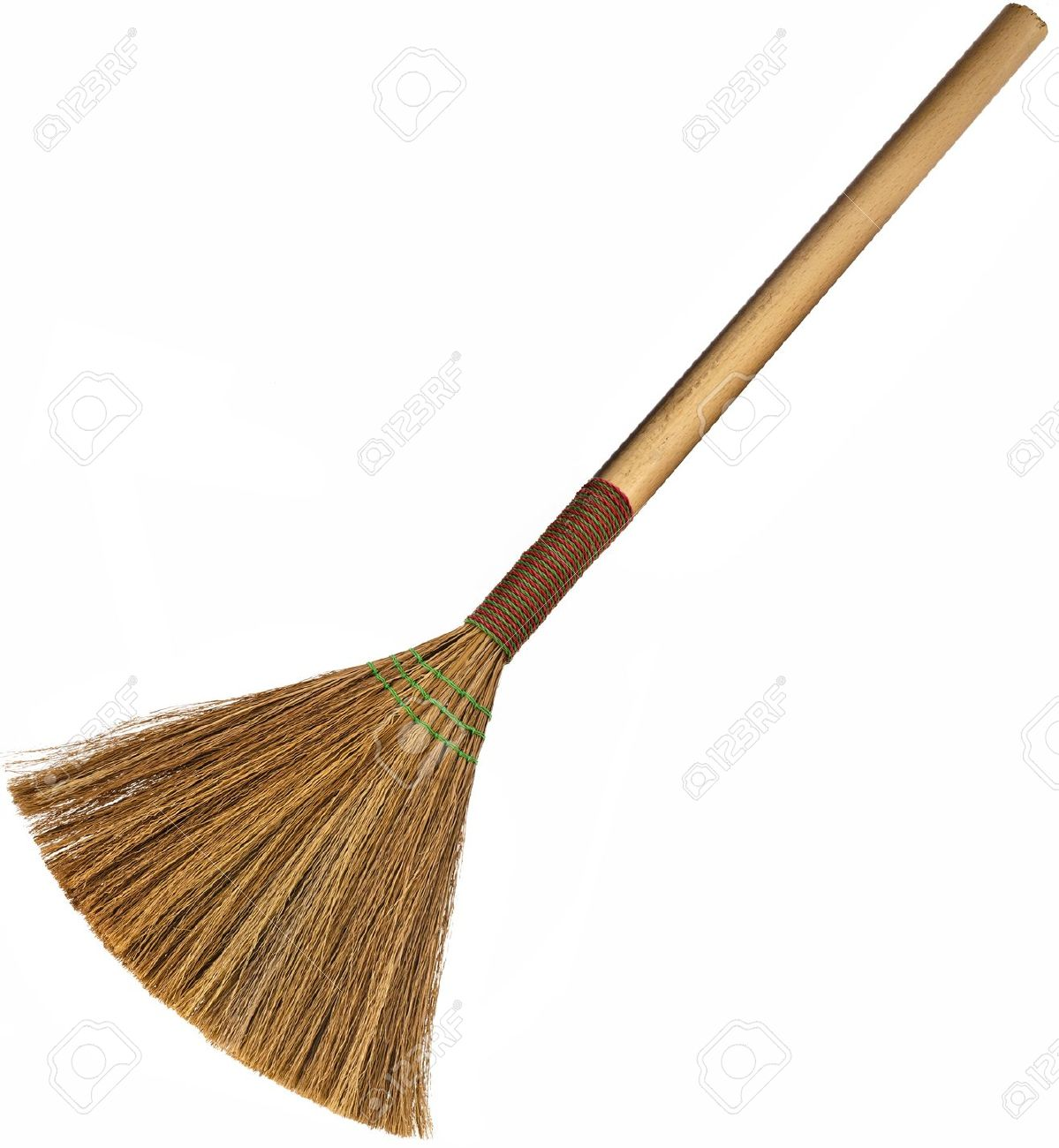 Broom Isolated On White Background Stock Photo, Picture And.