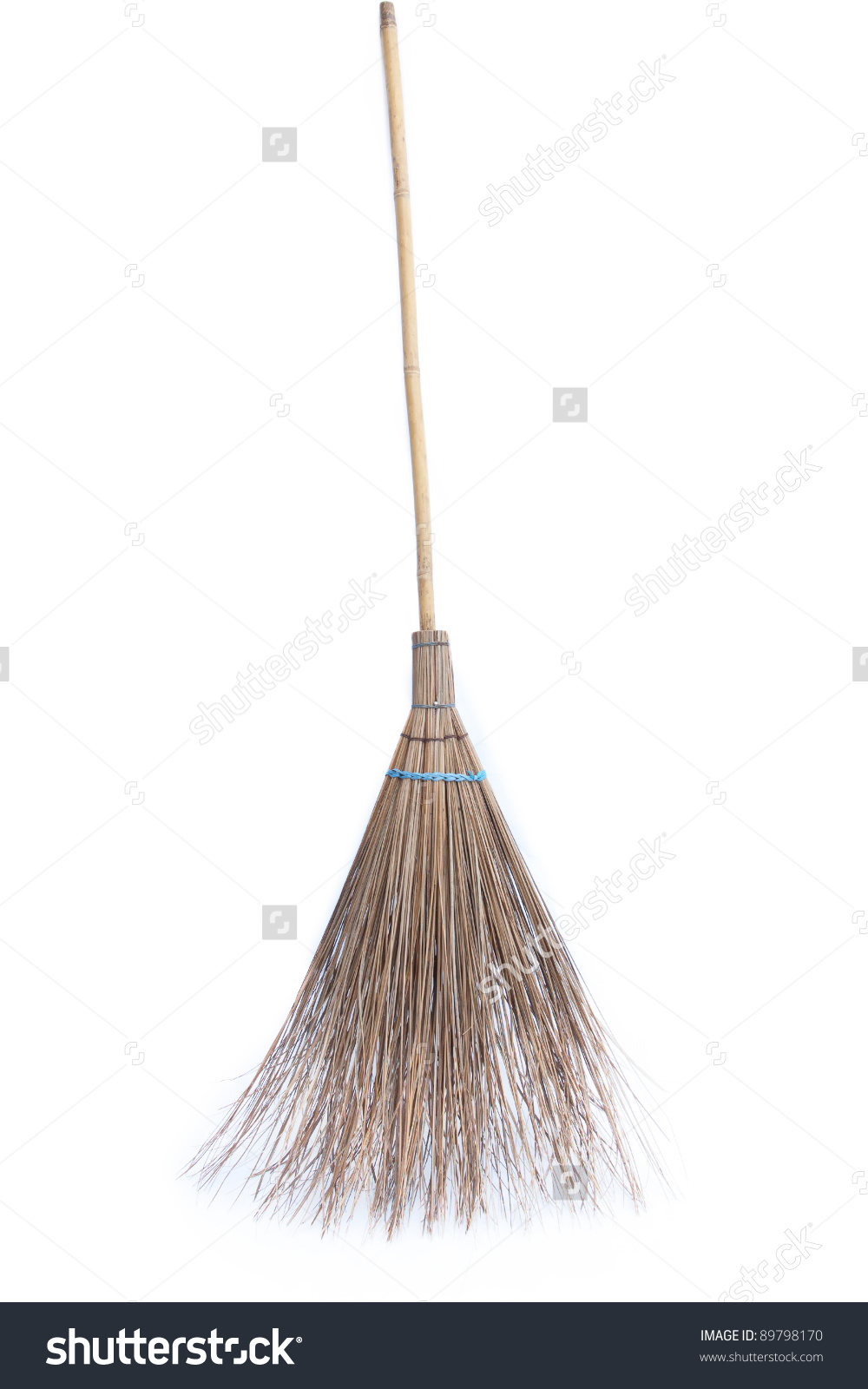 Coconut Leave Broom Isolated Stock Photo 89798170.