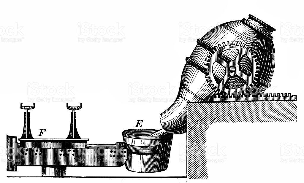 Steel Making Bessemer Process stock vector art 524889208.