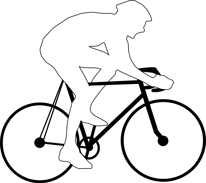 Cyclist silhouette Free Vector.